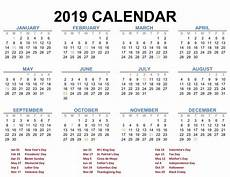 2020 calendar templates with holidays calendar 2019 blank printable creator thyself