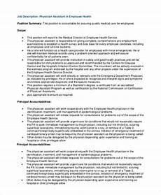 Medical Assistant Job Description Sample Free 10 Sample Physician Job Description Templates In Pdf