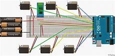 Arduino Servo Motor Control Mitappinventor Control Multiple Servo Motors Using