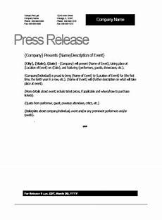 Press Release Example For Event Top 5 Resources To Get Free Press Release Templates Word