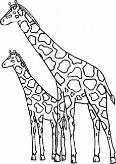 Ausmalbilder Drucken Giraffe Zwei Giraffen Ausmalbild Malvorlage Comics