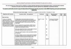 School Development Plan Secondary School Development Planning At Kegs Teacherhead