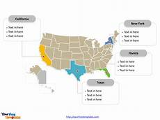 Us Map Template Powerpoint Free Usa Powerpoint Map Free Powerpoint Templates