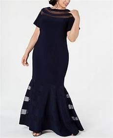 Xscape Plus Size Dresses Size Chart Xscape Plus Size Illusion Panel Gown Amp Reviews Dresses