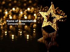 Stars Powerpoint Gold Star Powerpoint Template Backgrounds 03748