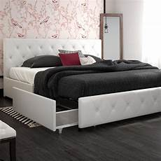 contemporary king size bed frame with storage 4 drawers