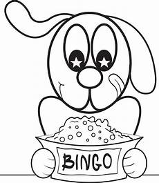 Bingo Coloring Pages Printable Bingo The Cartoon Dog Coloring Page For Kids