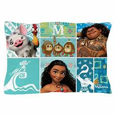 moana collage monogrammed pillow by moanamovie