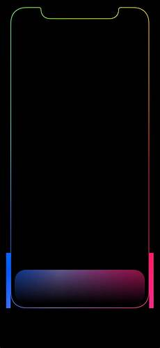 iphone x black wallpaper with border iphone x wallpaper up macrumors forums