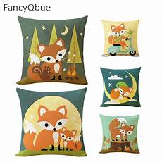 aliexpress buy fox animal cushion cover cotton