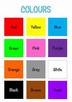 Basic Color Chart For Kids Teaching Thursday Colours Printable
