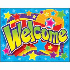 Welcome Chart For Classroom Welcome Stars Learning Chart T 38334 Trend Enterprises