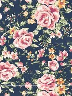 Navy Floral Iphone Wallpaper by Navy Blue And Mauve Pink Floral Print Iphone Background