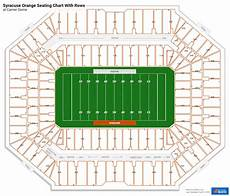 Seating Chart Carrier Dome Football Carrier Dome Seating Charts For Syracuse Football