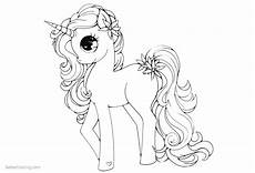 unicorn coloring pages my pony style free