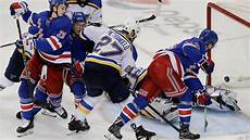 Rangers Goal Light Rangers Rally To Deal Blues Setback In Playoff Race The