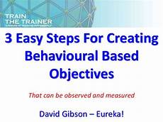 Trainer Objectives How To Write Training Objectives
