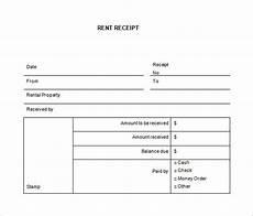 Rent Receipt Format Word Free Blank Printable Rent Receipt Template Pdf Word Doc