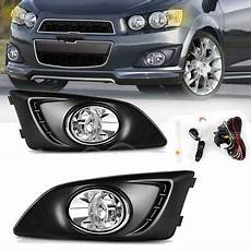 Chevy Aveo Lights For 2012 2016 Chevy Sonic Aveo Clear Bumper Fog Light