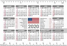 2020 Calendar Holidays Usa 2020 Calendar Usa Flag And Holidays Ruler Starting Sunday