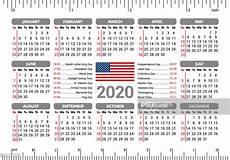 2020 Us Calendar Printable 2020 Calendar Usa Flag And Holidays Ruler Starting Sunday
