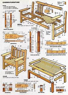 Designer Furniture Plans English Garden Furniture Plans Woodarchivist