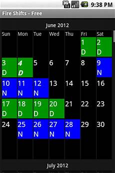 4 On 4 Off Shift Calendar App Fire Shifts Calendar For Android Amp Blackberry Playbook