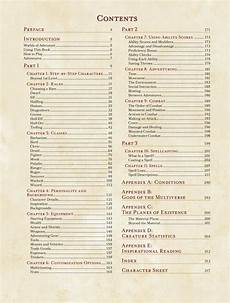 5e Backgrounds Chart D Amp D 5e Table Of Contents And Sorcerer Class