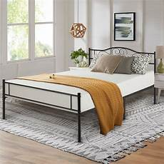 vecelo size metal bed frame with headboard platform