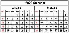 Calendars January 2020 February 2020 January February 2020 Calendar Printable Template Pdf Word