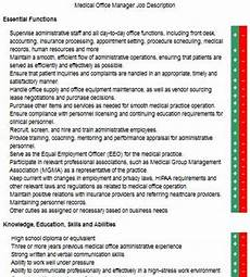 Medical Office Administration Duties Medical Office Manager Job Description Lovetoknow