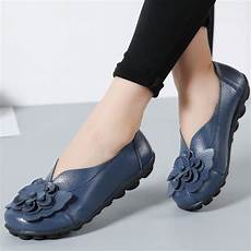 Designer Shoes With Feathers Designer Women Loafers Flower Genuine Leather Shoes Ladies