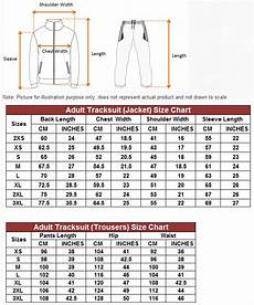 Couture Tracksuit Size Chart Size Charts