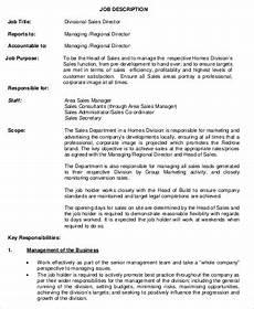 Regional Sales Director Job Description Sales Director Job Description Sample 10 Examples In