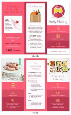 Food Brochure Templates Catering Food Tri Fold Brochure Template Venngage