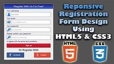 Css3 Design Tutorial Responsive Registration Form Design Using Html5 Amp Css3
