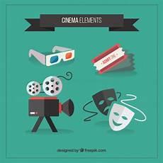 Cine Designer R2 Free Download Cinema Accessory Collection In Flat Design Vector Free