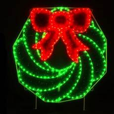 Outdoor Christmas Wreaths With Led Lights Holiday Lighting Specialists 8 Ft Wreath Outdoor Christmas