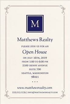 Business Open House Invitation Monogram Business Open House Invitation Business Open