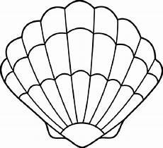 Malvorlagen Meerjungfrau Romantik Clam Shell Cutout Outline Drawing Pocket