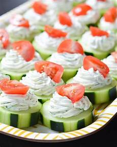dilly cucumber bites recipe healthy appetizers