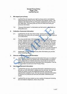 Privacy Policy Sample Privacy Policy Sample Lawpath
