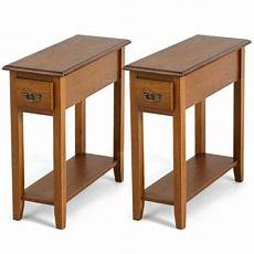 set of 2 end table bedside sofa console table narrow