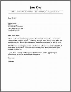 Job Offer Acceptance Email Example How To Write A Job Acceptance Letter Samples