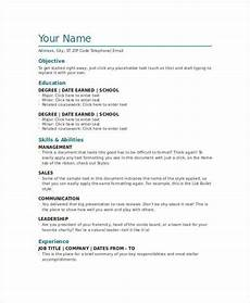 Resume Example Word Document 8 Word Document Templates Free Amp Premium Templates