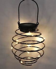Spiral Solar Lights Set Of 3 Solar Spiral Lantern Led Lights By Solaray 163 14 99