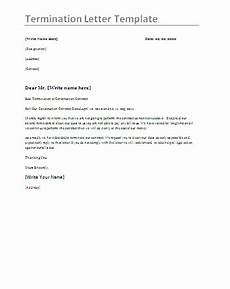 Employment Termination Letter Template Free Termination Letter Format Free Word Templates