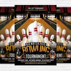 Bowling Flyer Bowling Tournament Premium Psd Flyer Template