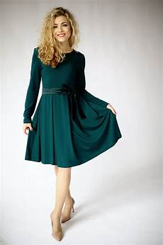 green dress sleeve dresses for fit and flare