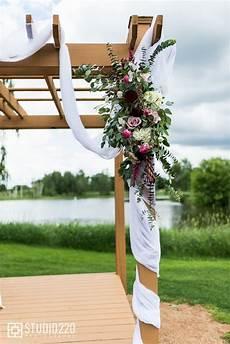 Design Homes Ham Lake Mn Magenta Flowers Wedding Pergola Romantic Wedding